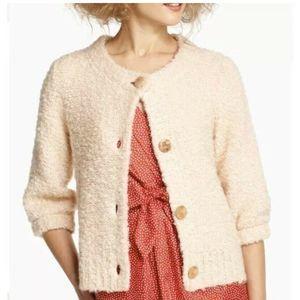 Anthropologie HWR Cardigan Rinah Boucle Sweater